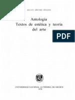 Sanchez Vazquez Adolfo Antologia Textos de Estetica Y Teoria Del Arte