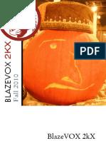 BlazeVOX2kX Fall 2010