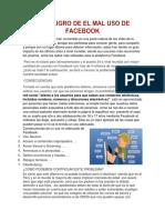 El Peligro de El Mal Uso de Facebook