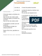 CHORANDO SE FOI (LAMBADA) - Kaoma (Impressão)