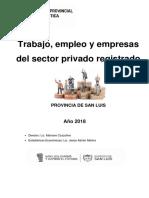 Trabajo, empleo y empresas del sector privado registrado