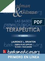 GOODMAN & GILMAN. LAS BASES FARMACOLOGICAS  DE LA TERAPEUTICA 13a EDICION.pdf