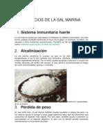 Beneficios de La Sal Marina