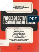 Processo de trabalho e estratégias de classe