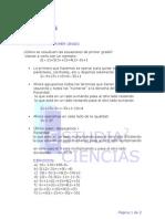 teoría ecuaciones de primer y segundo grado