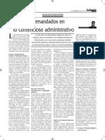 Los Demandados en Lo Contencioso Administrativo - Autor José María Pacori Cari