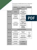 Segundas Jornadas Patagónicas sobre Enseñanza de la Astronomía_2010 (Cronograma)