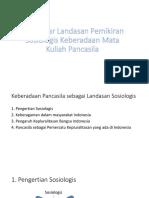 Pengantar Landasan Pemikiran Sosiologis Keberadaan Mata Kuliah Pancasila
