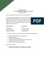 acta de reforma de estatutos y designación de cargos de fundación + aceptación cargos
