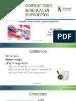 Modificaciones geneticas en Bioprocesos.pptx