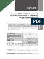 Responsabilidad Administrativa Funcional Como Mecanismo de Control de La Corrupción - Autor José María Pacori Cari