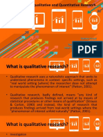 Introduction to Qualitative and Quantitative Research