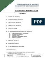 Memoria Descriptiva Arquitectura Echarati Uuul