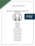 Tqm Auto Industry
