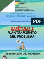 La Educacion Financiera y El Nivel de Ahorro - Tesis II - Diapositivas