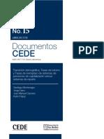 Transición demográfica, Tasas de retorno y Tasas de reemplazo de sistemas de pensiones de capitalización versus sistemas de reparto