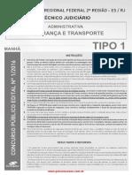 Técnico Judiciário-Segurança e Transporte - Área Administrativa - Tipo 1