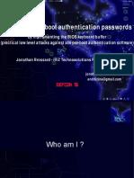 Jonathan Brossard - DEFCON 16 Bitlocker