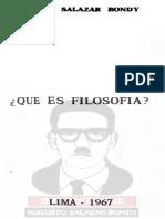 ¿Que es Filosofia? Salazar Bondy