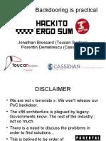 Moabi - Hardware Backdooring is Practical - NoSuchCon Conference
