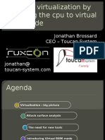 Jonathan Brossard - Breaking Virtualization 8088 Mode - Ruxcon 2010
