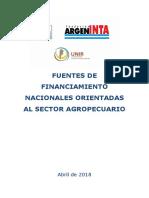Fuentes de Financiamiento INTA