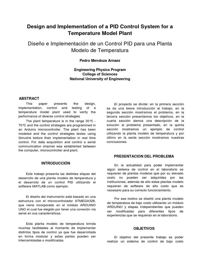 PID   Arduino   Ingeniería Eléctrica