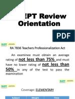 2018 BLEPT Review Orientation