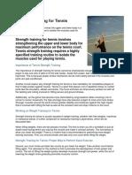 Lawn Tennis Report - Strength Training