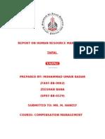 Report on Compensation Management
