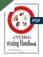 CVUHSD Writing Handbook 2017 FINAL