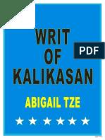 Polminiipad-writ of Kalikasan