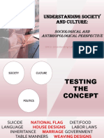 SOCIETY and CULTURE- Sociological and ANthropological Pers