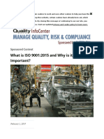 What is ISO 9001-2015 and Why is It Important
