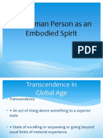 The Human Person as an Embodied Spirit