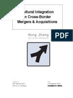Cultural Integration in Cross-border M&A