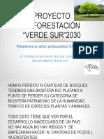 Proyecto Reforestación VERDE CURLP DIBIO