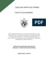 Politicas Publicas Para Uso Adecuado de Las TI en Las PYMEs Automaizacion y DSS