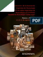 Libro Resúmenes Musicologia argentina
