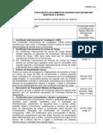 N08 Anexo 2-J - Documentos Que Devem Ser Mantidos a Bordo
