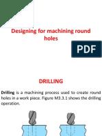 Designing for Machining Round Holes