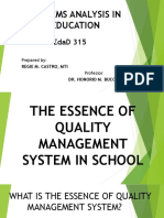 The Essence of Quality Management System in school