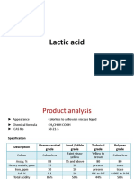 Lactic Acid Spec and Application