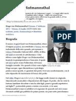 Hugo Von Hofmannsthal - Wikipedia