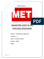 Jbl Marketing Strategies (marketing audit, swot and competitive analysis)