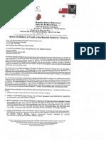 Affidavit of Credit - Notice of Affidavit of Credit to the Moorish American Treasury