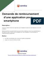 Ooreka Demande de Remboursement Appli Smartphone