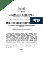 Projet de loi constitutionnelle visant à protéger le droit fondamental à l'interruption volontaire de grossesse