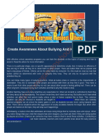 Create Awareness About Bullying and How to Avoid It