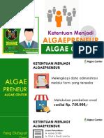 Ketentuan Menjadi Distributor Algaecenter